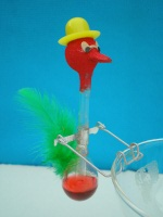 small happy drinking bird